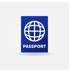 Passport blue sign vector image
