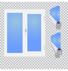 Plastic window glazed sectional on checkered vector image
