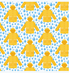 Seamless pattern rain coat water drops vector