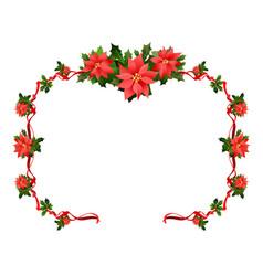 seasons greetings floral frame vector image vector image