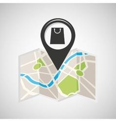 Shop store map pin pointer design vector