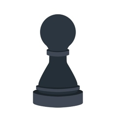 Silhouette with figure pawn of chess vector