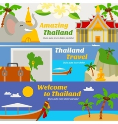 Thailand travel banners set vector