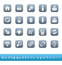 web icons mate blue vector image vector image