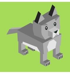 Wild Animal Wolf Isometric 3d Design vector image