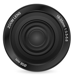 zoom lens vector image