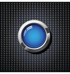 blue button vector image