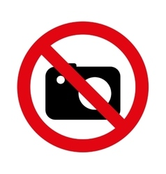 Denied circle red prohibited icon vector