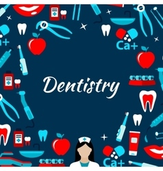 Dentistry and dental treatments banner vector