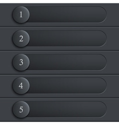 Black stylish design website layout vector image