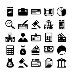 Banking and finance line icons 11 vector