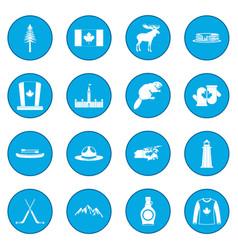 Canada icon blue vector