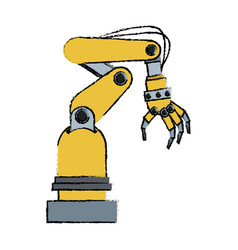 artificial arm machine technology futuristic vector image