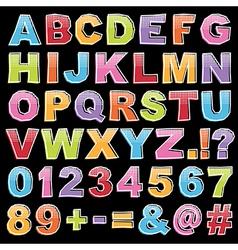 alphabet19 vector image