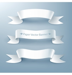 Paper ribbon banner vector