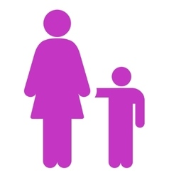 Mother with son icon vector