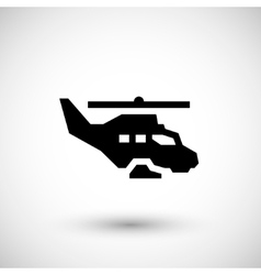 Military helicopter icon vector