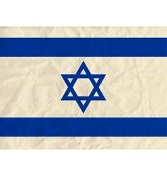 Israel paper flag vector image