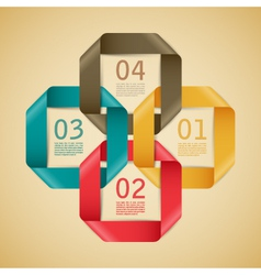 Abstract web template vector image vector image