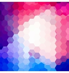 Background of geometric shapes Colorful mosaic vector image vector image