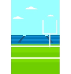 Background of rugby stadium vector