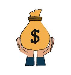 Bag of money icon image vector