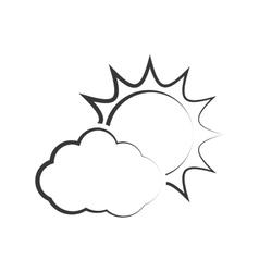 Cloud sun weather sky season icon graphic vector
