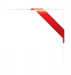 corner ribbon vector image vector image