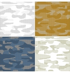 Digital camouflage seamless patterns - set vector image vector image