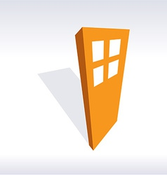 Door 3d icon vector