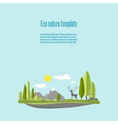 Eco nature 02 vector image vector image