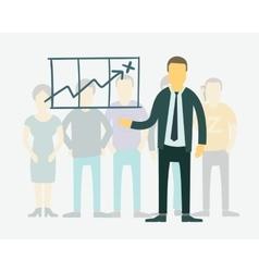 Flat businessman presentation of vector