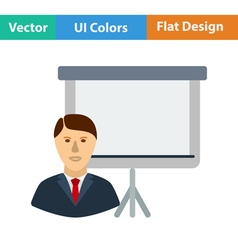 Flat design icon of coach businessman vector