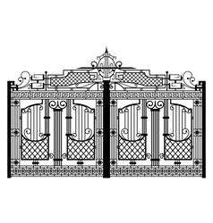 forged gate architecture detail vector image