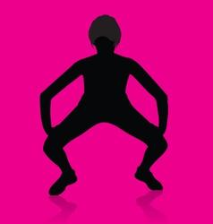 Girl twerking vector