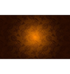Gold floral lace seamless background vector image