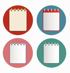 Icon of notebook in four variations vector