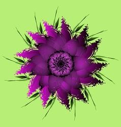 Lilac purple peony flower vector