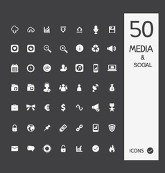 Media icon set vector image vector image