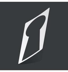 Monochrome keyhole sticker vector image vector image