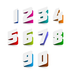 Numbers cut out from paper vector image vector image