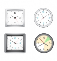 office clocks vector image vector image