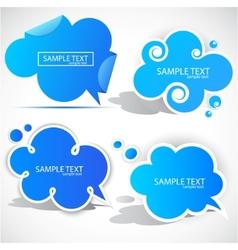 paper cloud bubble vector image