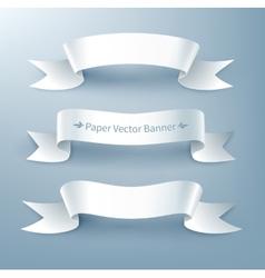 Paper ribbon banner vector image vector image