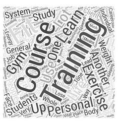 Personal training courses word cloud concept vector