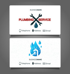 plumbing repair business card vector image vector image