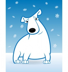 polar bear and snow vector image vector image