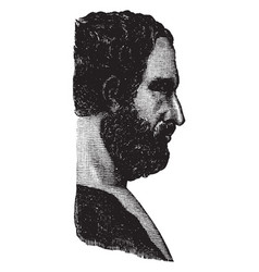 Profile bust of thucydides vintage vector