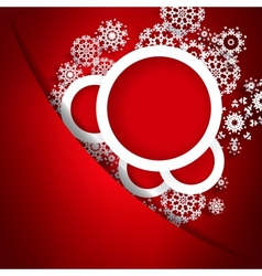 Red christmas card with snowflakes EPS10 vector image vector image