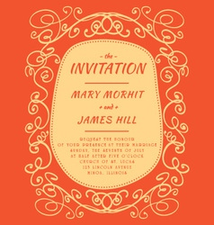 Scribble Invitation vector image vector image